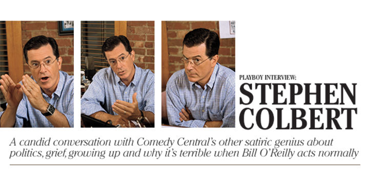 PLAYBOY INTERVIEW: STEPHEN COLBERT: