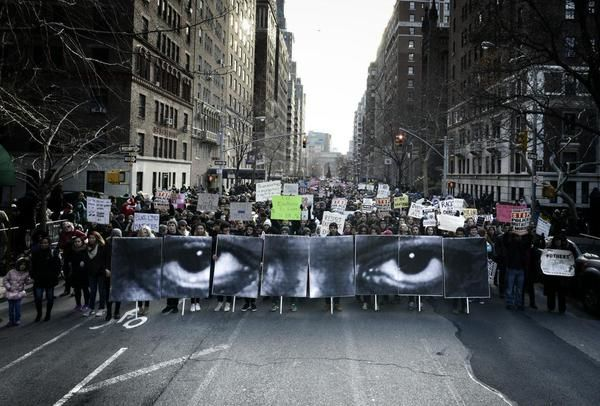 """""""The Eyes of Eric Garner"""" by JR (courtesy of the artist)"""