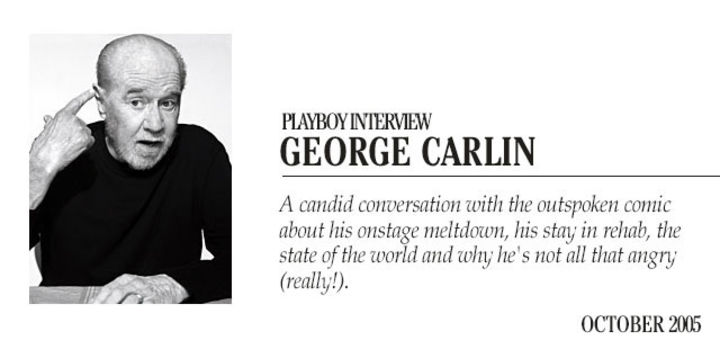 Playboy Interview: George Carlin: